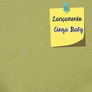Feltro Liso Cinza Baby Santa Fé