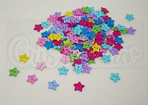 Botões de Estrela 13mm Sortidos