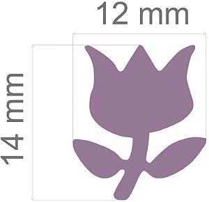 Furador para papel/E.V.A. (regular) Tulipa C/Alavanca 16mm Toke E Crie