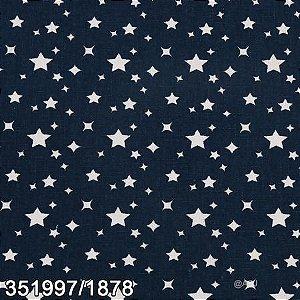 Tecido Patchwork Circulo  Estrelas Branca