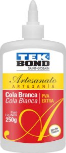 Cola para artesanato Branca Pva Extra 250g.  -  Tekbond