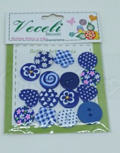 Botões Artesanais Compose Azul Marinho