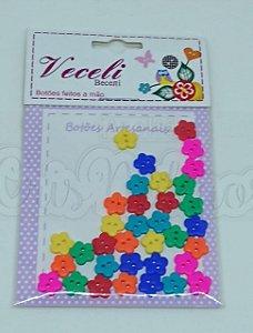 Botões Artesanais Florzinhas Candy