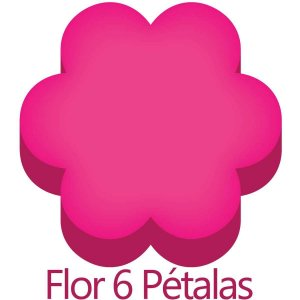 Furador para papel/E.V.A. (regular) Regular Flor 6 Petalas 16mm Make+