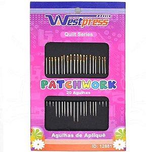 Agulha Westpress Patchwork 35/33/31,5/28,5/25,5mm - 20 unidades