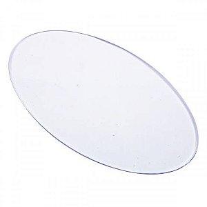 Base Acrílica Oval Transparente 10x6cm - 3 peças