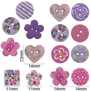 Botões artesanais compose rosa e lilas