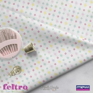 Feltro Estampado Flower Composê