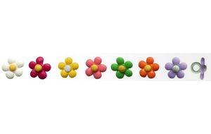 Botão Patchwork We Care About Micro Flor - 10un