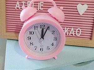 Relógio de Mesa Rosa