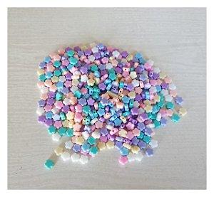 Miçanga Cores Candy Flor - Furo Passante - 24un