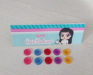Botão Mix Princesas 10mm - 10un