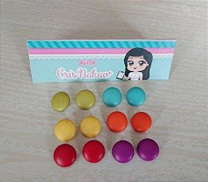 Botão Mix Circo com pezinho Cores Vibrantes  pastilha 15mm