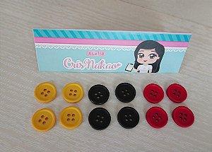 Botão Coleção Mickey 15mm - 12 unidades