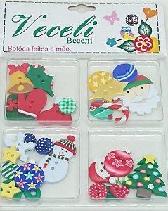 Kit Botões Artesanais Natal