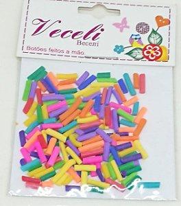 Botões Artesanais Confete Colorido Slime