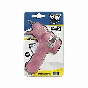 Mini Pistola De Cola Quente Rosa - Rendicolla