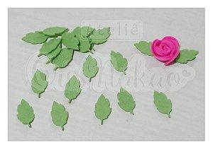 Recortes em Feltro - Folhas de Roseiras 50un