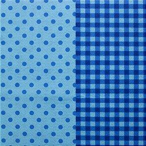 Feltro Estampado Santa Fé - Coleção Emoção - Compose Azul Lyon