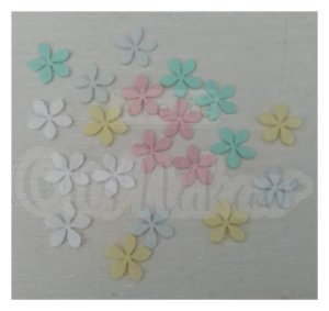 Recortes em Feltro Flores 5 Pontas Modelo 2 - 50un