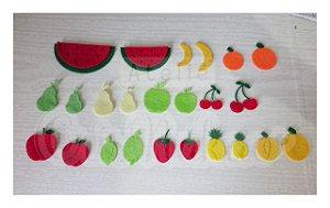 Recortes em Feltro - Frutas 12 unidades