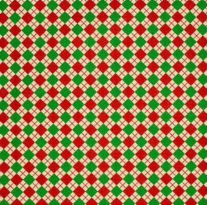 Feltro Santa Fé - Estampado Sueter Natalino Vermelho/Verde