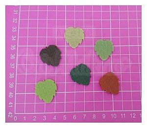 Recortes em Feltro - Folhas Modelo 2 - 50un