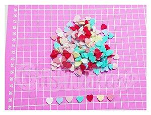 Kit Recortes em Feltro Corações Modelo 1 - 1,5 cm - 100 un
