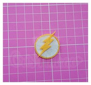 Recortes em Feltro - Emblema Super Heróis - Flash 4 un