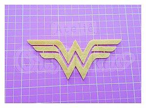 Recortes em Feltro - Emblema Super Heróis - Mulher Maravilha 4 un
