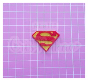 Recortes em Feltro - Emblema Super Heróis - Super Homem 4 un