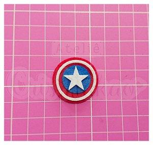 Recortes em Feltro - Emblema Super Heróis - Capitão América 4 un