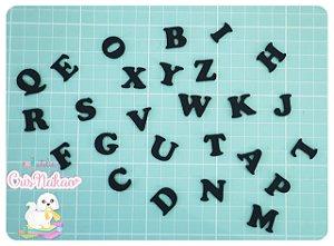 Kit Recortes em Feltro Alfabeto 26 Letras - 3cm Altura