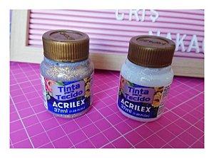 Tinta para tecido com gliter 37ml
