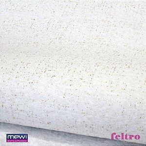 Feltro Glitter Mewi Branco