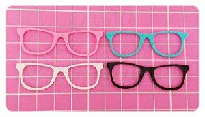 Kit Recortes em Feltro  Óculos Tradicional 6 cm - 10 un