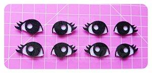 Recortes em Feltro Olhos Modelo 1 - 10 Pares