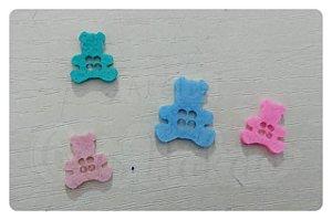 Botões de Urso Recortes em Feltro 1,5cm - 50un