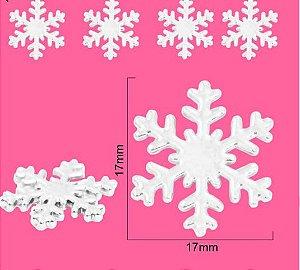 Botões Floco de Neve 10 unidades