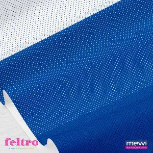 Feltro Estampado Intense Poá Azul Royal Composê