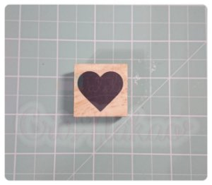 Carimbo Artesanal - Coração (1) 3x3cm