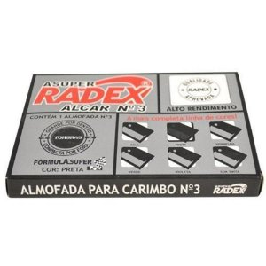 Almofada para carimbo (n° 3) Com Tinta  -  Radex