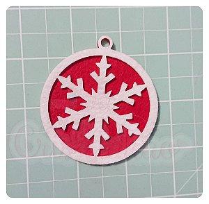 Recortes em Feltro Pingentes de Natal - Floco de Neve 5