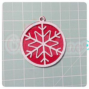 Recortes em Feltro Pingentes de Natal - Floco de Neve 6