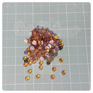 Botão Chaton Redondo Amarelo  6mm- 20 unidades