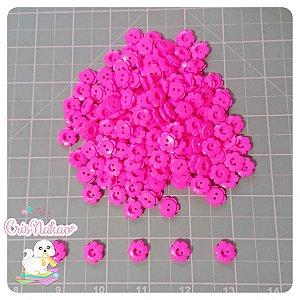 Botão Flor 12mm Rosa fluor - 20 unidades