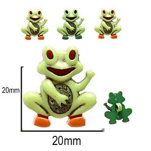 Botão Infantil Sapinho - 10 unidades