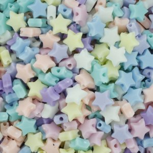 Miçanga Colorida Infantil - Estrela Candy 20un