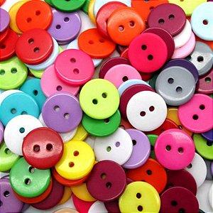 Botões Redondos Coloridos 12mm - 30 un Sortidos
