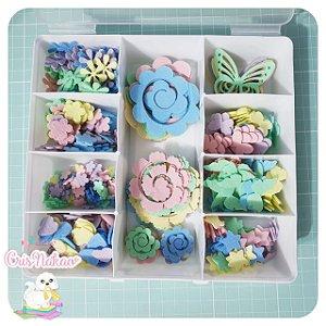 Caixa Organizadora com Recortes candy colors